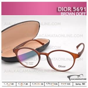 Kacamata Minus Dior 5691 Brown Doff - Harga Model dan Gambar Kacamata Terbaru
