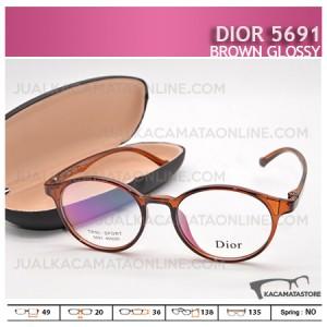 Jual Kacamata Minus Dior 5691 Brown Glossy - Harga Model dan Gambar Kacamata Terbaru