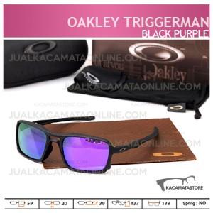 Gambar Kacamata Oakley Terbaru Triggerman Silver Black Purple