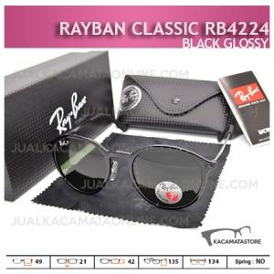 Model Kacamata Rayban Classic Rb4224 Black Glossy