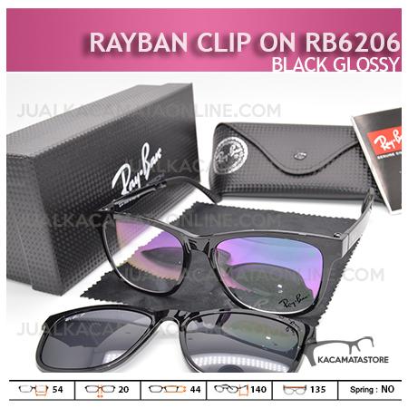 Jual Kacamata Rayban Double Lensa Rb6206 Black Glossy - Gambar Kacamata Terbaru