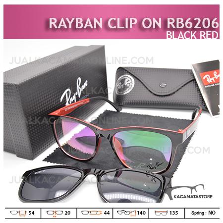 Model Kacamata Rayban Double Lensa Rb6206 Black Red - Gambar Kacamata Terbaru