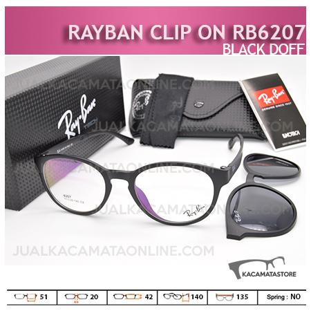 Model Kacamata Rayban Double Lensa Rb6207 Black Doff - Gambar Kacamata Terbaru