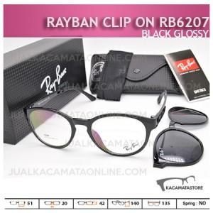 harga Kacamata Rayban Double Lensa Rb6207 Black Glossy - Gambar Kacamata Terbaru