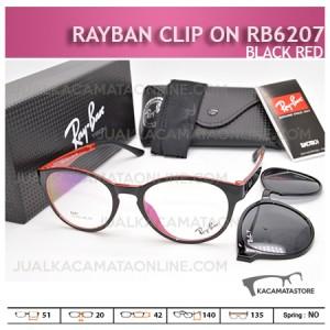 Jual Kacamata Rayban Double Lensa Rb6207 Black Red - Gambar Kacamata Terbaru