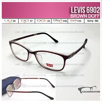 Jual Frame Kacamata Levis 6902 Brown Doff