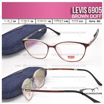 Jual Frame Kacamata Levis 6905 Brown Doff