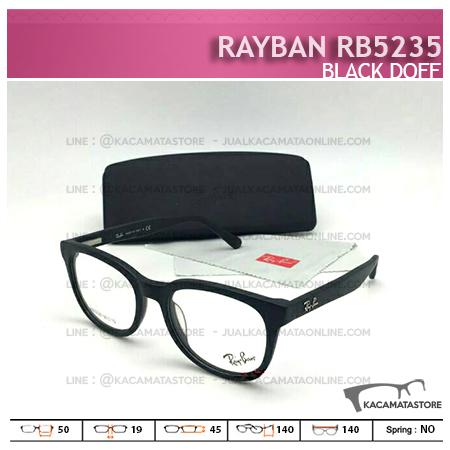 Model Frame Kacamata Terbaru Rayban RB5235 Black Doff