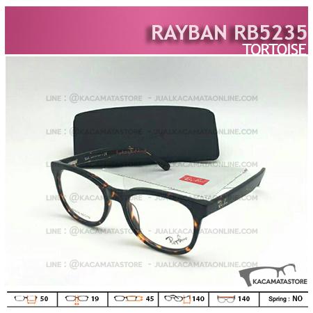 Harga Frame Kacamata Terbaru Rayban RB5235 Tortoise