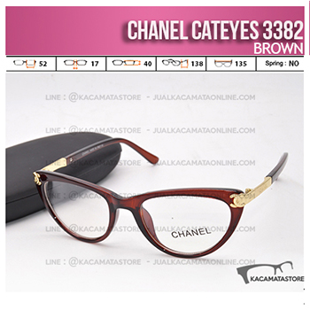 Model Frame Kacamata Wanita Chanel Cateyes Brown