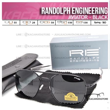 Harga Kacamata Pilot Randolph Engineering Aviator Black