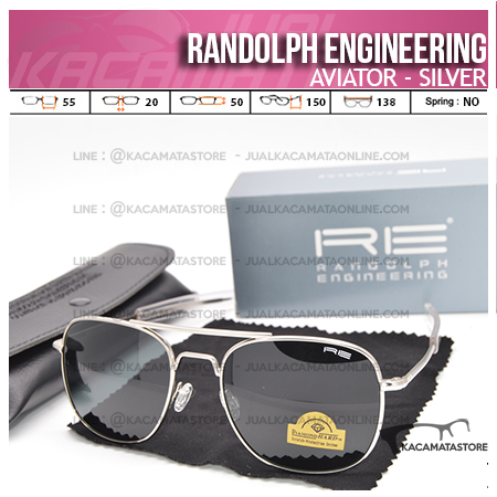 Jual Kacamata Pilot Randolph Engineering Aviator Silver