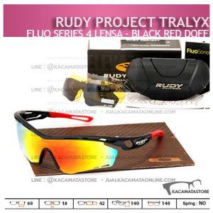 Kacamata Sepeda Rudy Project Tralyx Black Red Doff - Trend Model Kacamata Sepeda Terbaru