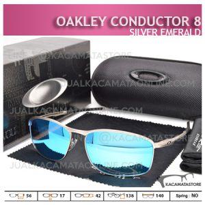 Trend Kacamata Oakley Terbaru Conductor 8 Silver Emerald