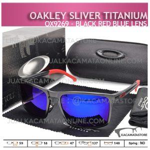 Harga Kacamata Oakley Terbaru Sliver Titanium Black Blue