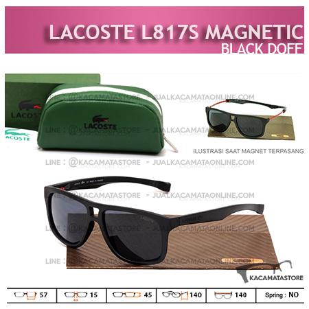 Model Kacamata Pria Terbaru Lacoste L817S Black Doff