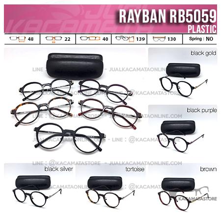 Jual Frame Kacamata Murah Rayban RB5059 Model Kacamata Bulat