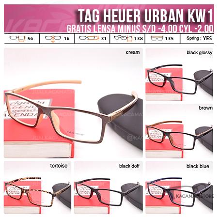 Jual Frame Kacamata Murah Tag Heuer Urban KW1 Gratis Lensa
