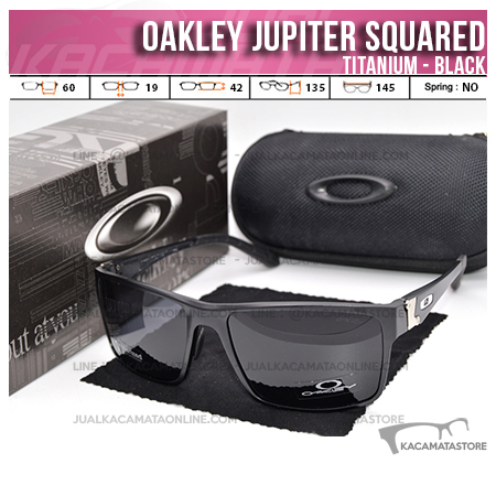 Model Kacamata Oakley Terbaru Jupiter Squared Titanium Black