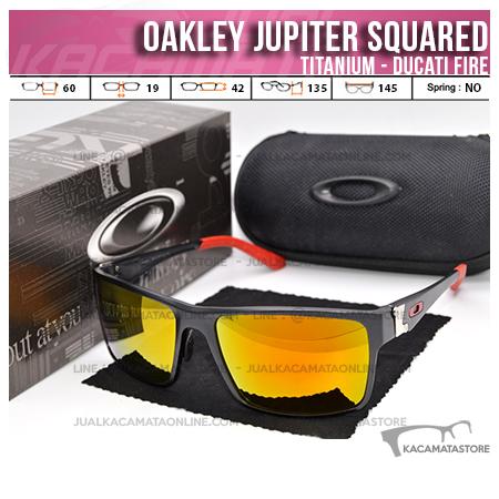 Jual Kacamata Oakley Terbaru Jupiter Squared Titanium Ducati Fire
