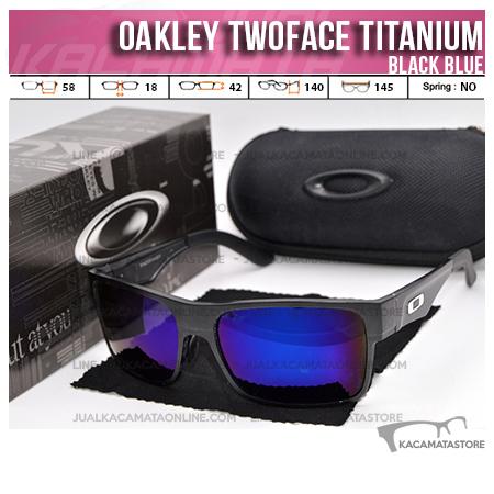 Jual Kacamata Oakley Terbaru Twoface Titanium Black Blue