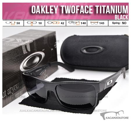 Gambar Kacamata Oakley Terbaru Twoface Titanium Black