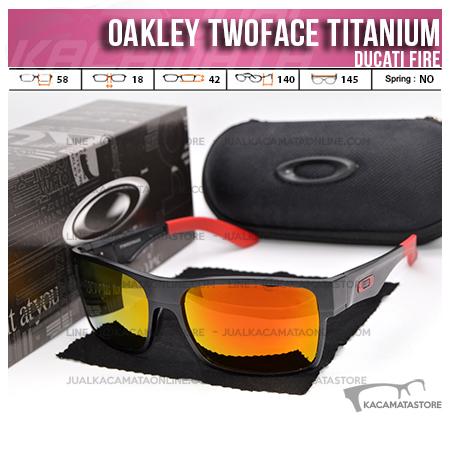 Trend Kacamata Oakley Terbaru Twoface Titanium Ducati Fire