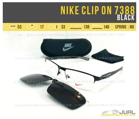 Jual Kacamata Clip On Nike 7388 Black