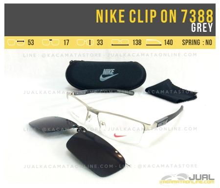 Harga Kacamata Clip On Nike 7388 Grey