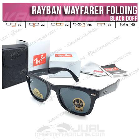 Trend Kacamata Rayban Wayfarer Folding Black Doff