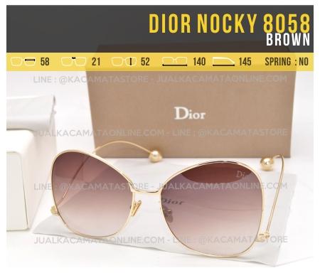 Gambar Kacamata Syahrini Dior Nocky 8058 Brown