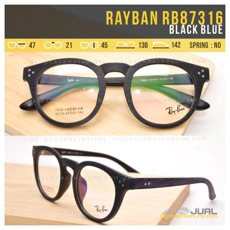 Harga Frame Kacamata Rayban RB87316 Black Blue