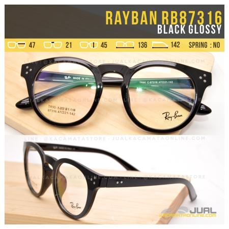 Model Frame Kacamata Rayban RB87316 Black Glossy