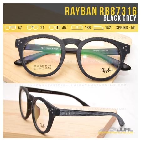 Jual Frame Kacamata Rayban RB87316 Black Grey