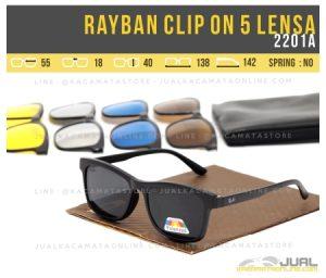 Model Kacamata Double Lensa Rayban Clip On 2201A
