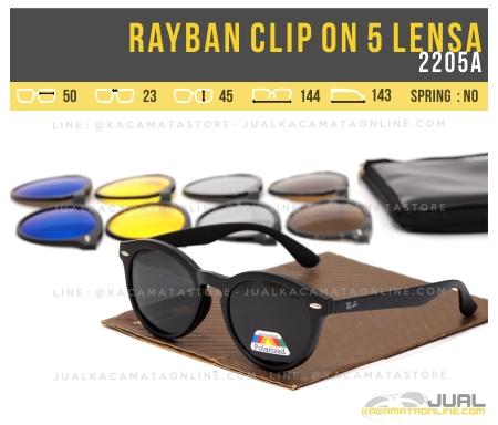 Jual Kacamata Double Lensa Rayban Clip On 2205A