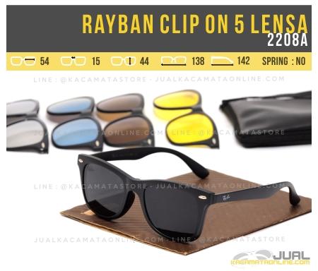 Jual Kacamata Double Lensa Rayban Clip On 2208A