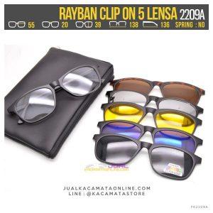 Gambar Kacamata Double Lensa Rayban Clip On 2209A
