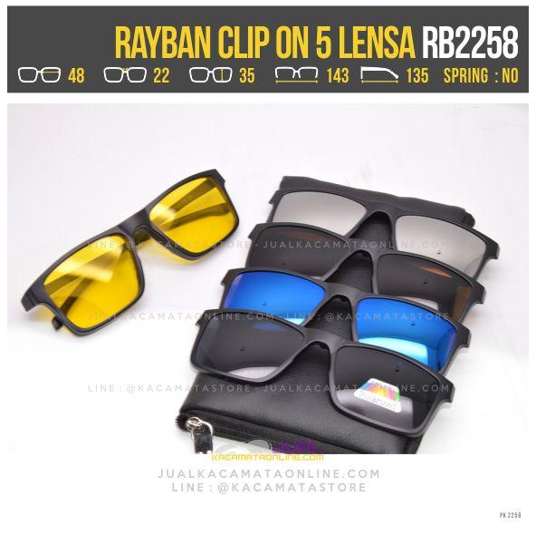 model kacamata minus warna rayban rb2258