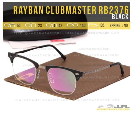 Jual Kacamata Retro Rayban Clubmaster RB2376 Black