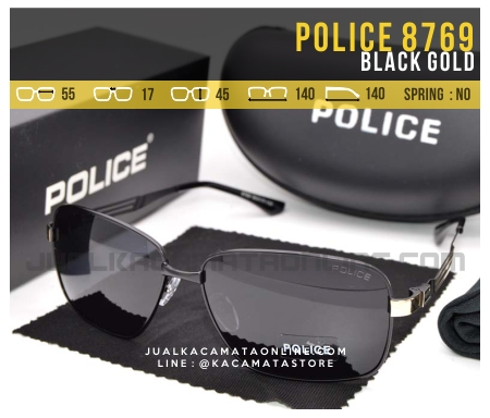 Model Kacamata Gaya Terbaru Police 8769 Black Gold