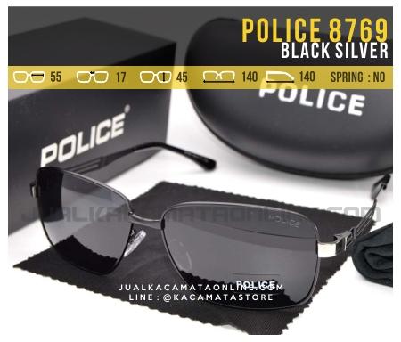 Jual Kacamata Gaya Terbaru Police 8769 Black Silver