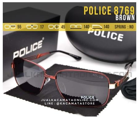 Gambar Kacamata Gaya Terbaru Police 8769 Brown