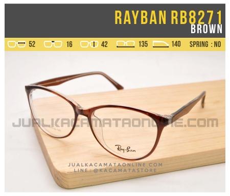Harga Kacamata Minus Wanita Rayban RB8271 Brown