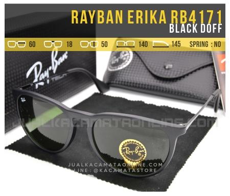 Harga Kacamata Rayban Erika Terbaru RB4171 Black Doff