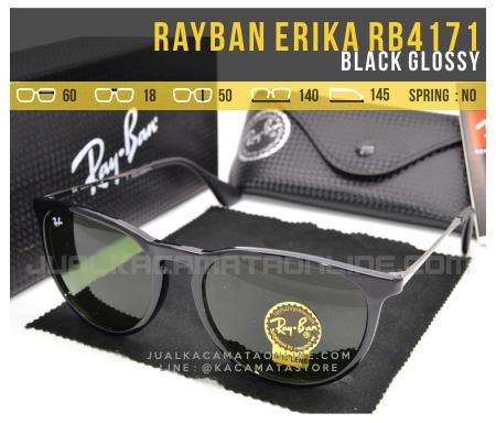 Model Kacamata Rayban Erika Terbaru RB4171 Black Glossy