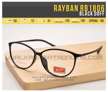 Harga Kacamata Minus Terbaru Rayban RB1806 Black Doff