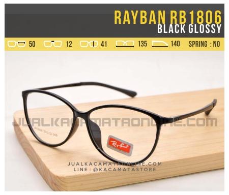 Gambar Kacamata Minus Terbaru Rayban RB1806 Black Glossy