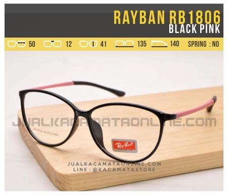 Model Kacamata Minus Terbaru Rayban RB1806 Black Pink
