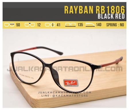 Jual Kacamata Minus Terbaru Rayban RB1806 Black Red